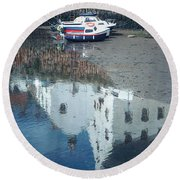 Crail Reflection I Round Beach Towel