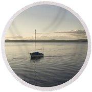 Cramond. Boat. Round Beach Towel