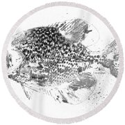 Crappie Abstract Round Beach Towel