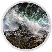 Crashing Surf Round Beach Towel