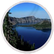 Crater Lake Round Beach Towel