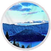 Crater Within Round Beach Towel by Nancy Marie Ricketts