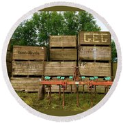 Crates To Go Round Beach Towel