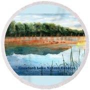 Crawford Lake Nature Estates Round Beach Towel
