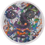 Crazy Day Round Beach Towel