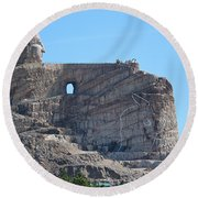 Crazy Horse Round Beach Towel