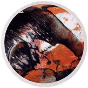 Crazy Mouse - Modern Abstract Art Painting Round Beach Towel