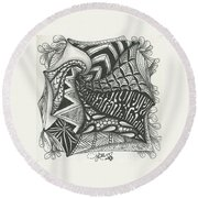 Crazy Spiral Round Beach Towel