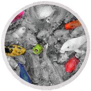 Create Your Own Happiness And Break Free Of The Grey Round Beach Towel