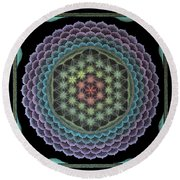 Creating My Heaven On Earth Round Beach Towel