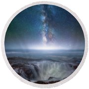 Round Beach Towel featuring the photograph Creation by Darren White