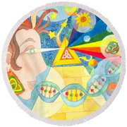 Creation Myth Round Beach Towel