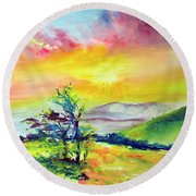 Creation Sings Round Beach Towel