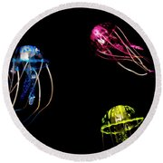 Creatures Of The Deep Round Beach Towel