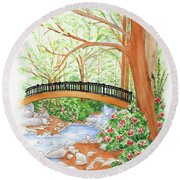 Creek Crossing Round Beach Towel