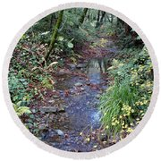 Creek On Mt Tamalpais 2 Round Beach Towel
