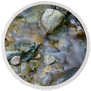 Creek On Mt Tamalpais Round Beach Towel