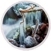 Creekside Icicles Round Beach Towel
