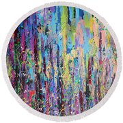 Creeping Beauty - Large Work Round Beach Towel