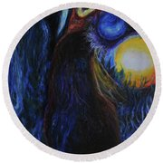 Creeping Plague Round Beach Towel