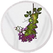 Crepe Myrtle In Oil Round Beach Towel