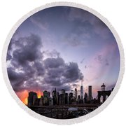 Crepsucular Nights Round Beach Towel