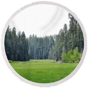 Round Beach Towel featuring the photograph Crescent Meadow by Kyle Hanson