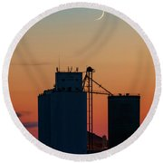 Crescent Moon At Laird 01 Round Beach Towel
