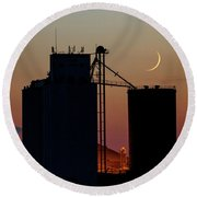 Crescent Moon At Laird 02 Round Beach Towel
