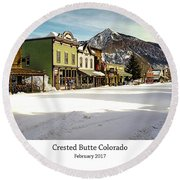 Crested Butte Round Beach Towel