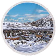 Crested Butte Panorama Round Beach Towel