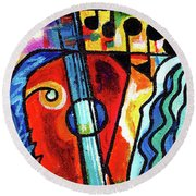 Creve Coeur Streetlight Banners Whimsical Motion 10 Round Beach Towel