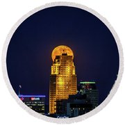 Crew Tower Moon Round Beach Towel