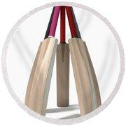Cricket Bat Circle Round Beach Towel
