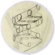 Cricks Original Dna Sketch Round Beach Towel
