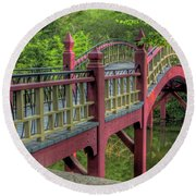 Crim Dell Bridge Summer Round Beach Towel