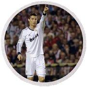 Cristiano Ronaldo 31 Round Beach Towel