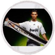 Cristiano Ronaldo Round Beach Towel