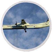 Croatia Airlines Bombardier Dash 8 Q400 Round Beach Towel