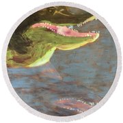 Crocodile Round Beach Towel