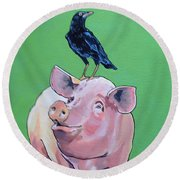 Cromwell The Crow Round Beach Towel