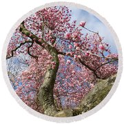 Crooked Magnolia Round Beach Towel