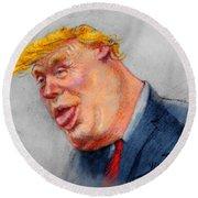 Crooked Trump Round Beach Towel