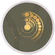 Crop Circle Formation Near Avebury  Round Beach Towel
