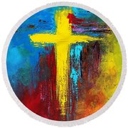 Cross 2 Round Beach Towel