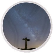 Cross Over To The Milky Way Round Beach Towel