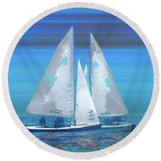 Crossing Round Beach Towel