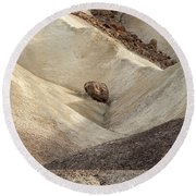 Round Beach Towel featuring the photograph Crossing Paths - Death Valley by Sandra Bronstein