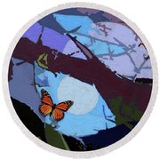 Crossing The Border Round Beach Towel by John Lautermilch