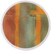 Round Beach Towel featuring the mixed media Crossroads by Eduardo Tavares